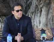 کلرسیداں، وزیراعظم عمران خان کلرسیداں میں میڈیا سے گفتگو کر رہے ہیں۔