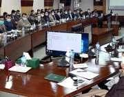 پشاور، وزیراعلی خیبرپختونخوا محمود خان اعلی سطحی اجلاس سے خطاب کر ..