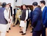 اسلام آباد، وزیراعظم عمران خان ایف نائن پارک میں سٹیزن کلب کا دورہ ..
