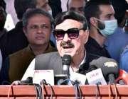 اسلام آباد، وزیر داخلہ شیخ رشید احمد اعلی سطحی اجلاس کی صدارت کر رہے ..