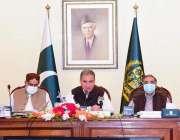 اسلام آباد، وزیر خارجہ شاہ محمود قریشی دفتر خارجہ میں تقریب سے خطاب ..