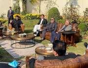 کراچی، صدر مملکت عارف علوی کے اعزاز میں گورنر سندھ عمران اسماعیل کی ..