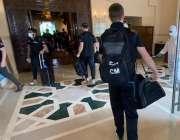 اسلام آباد، نیوزی لینڈ کی کرکٹ ٹیم کے ارکان پاکستان پہنچنے کے بعد ہوٹل ..