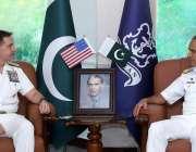 اسلام آباد، چیف آف نیول سٹاف ایڈمرل محمد امجد خان نیازی سے کمانڈر امریکن ..
