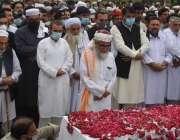چارسدہ، عوامی نیشنل پارٹی کی سابق صوبائی صدر بیگم نسیم ولی خان کی نماز ..