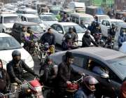 لاہور، جنوبی افریقہ کی کرکٹ ٹیم کی آمد کی وجہ سے عام ٹریفک روکنے کی ..
