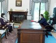 اسلام آباد، وزیراعظم عمران خان سے معاون خصوصی برائے تخفیف غربت و سماجی ..