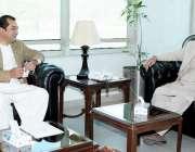اسلام آباد، وفاقی وزیر ایوی ایشن ڈویژن غلام سرور خان سے وزیراعلی گلگت، ..