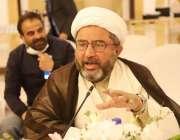 اسلام آباد، شیعہ علماء کونسل کے سیکرٹری جنرل علامہ عارف حسین واحدی ..