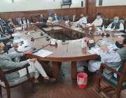 لاہور، سپیکر پنجاب اسمبلی چوہدری پرویز الہی فنانس کمیٹی کے اجلاس کی ..