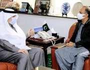 اسلام آباد، وفاقی وزیر توانائی عمر ایوب خان سے سعودی سفیر نواف بند ..