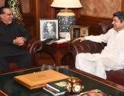 کراچی، گورنر سندھ عمران اسماعیل سے وفاقی وزیر قانون و انصاف بیرسٹربیرسٹر ..