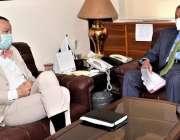 اسلام آباد، وزیراعظم کے مشیر برائے کامرس عبدالرزاق داؤد سے جرمن سفیر ..
