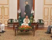 کراچی، صدر مملکت ڈاکٹر عارف علوی سے گورنر سندھ عمران اسماعیل، سید غوث ..