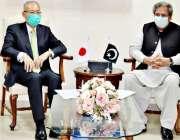 اسلام آباد، وفاقی وزیر تعلیم شفقت محمود سے جاپانی سفیر ملاقات کر رہے ..