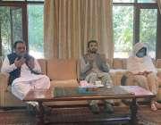 اسلام آباد، گورنر بلوچستان سید ظہور احمد آغا اور ڈپٹی سپیکر قومی اسمبلی ..