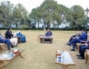 اسلام آباد، وزیراعظم عمران خان سے دھابی گروپ کا وفد ملاقات کر رہا ہے۔