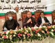 کراچی، صوبائی وزیر توانائی امتیاز احمد شیخ ملیر میں کھلی کچہری سے خطاب ..