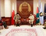 آرمی چیف جنرل قمر جاوید باجوہ دورہ بحرین کے موقع پر کمانڈر نیشنل بحرین ..