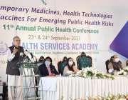 اسلام آباد، صدر مملکت ڈاکٹر عارف علوی نیشنل ہیلتھ سروسز اکیڈمی میں ..