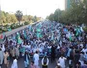 اسلام آباد، امیر جماعت اسلامی سراج الحق فلسطینیوں سے اظہار یکجہتی ..