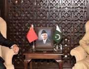 راولپنڈی، آرمی چیف جنرل قمر جاوید باجوہ سے چینی سفیر نونگ رونگ ملاقات ..