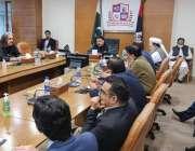 لاہور، وزیر داخلہ شیخ رشید اہم اجلاس کی صدارت کر رہے ہیں۔