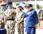 کراچی، وفاقی وزیر داخلہ شیخ رشید احمد کو پاکستان کوسٹ گارڈز ٹریننگ ..