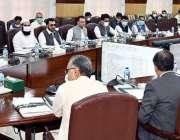 پشاور، وزیراعلی خیبرپختونخوا محمود خان صوبائی کابینہ کے اجلاس کی صدارت ..