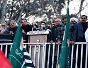اسلام آباد، مسلم لیگ ن کی نائب صدر مریم نواز پی ڈی ایم کے زیر اہتمام ..