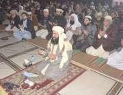 لاہور، بادشاہی مسجد کے خطیب اور چئیرمین رویت ہلال کمیٹی مولانا عبدالخبیر ..