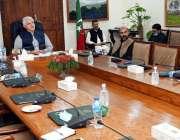 پشاور، وزیراعلی خیبرپختونخوا محمود خان پولیس ریفارمز سے متعلق اجلاس ..