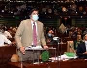 کراچی، وزیراعلی سندھ مراد علی شاہ سندھ اسمبلی کے ایوان میں صوبائی بجٹ ..