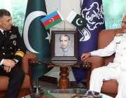 کراچی، چیف آف نیول سٹاف ایڈمرل محمد امجد خان نیازی سے کمانڈر آزربائیجان ..