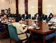 کراچی، وزیراعلی سندھ مراد علی شاہ سندھ کابینہ کے اجلاس کی صدارت کر ..