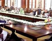 لاہور، وزیراعلی پنجاب سردار عثمان بزدار صوبائی کابینہ کے اجلاس کی ..