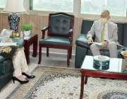 اسلام آباد، سیکرٹری بورڈ آف انویسٹمنٹ فرینہ مظہر سے جاپانی سفیر ملاقات ..