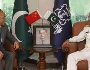 اسلام آباد، چیف آف نیول سٹاف ایڈمرل محمد امجد خان نیازی سے چینی سفیر ..