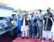 کراچی، وزیراعظم عمران خان کے سی آر انفراسٹرکچر پراجیکٹ کا سنگ بنیاد ..