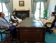 اسلام آباد، وزیراعظم عمران خان سے گورنر سندھ عمران اسماعیل اور سینیٹر ..
