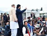 اسلام آباد، ڈپٹی سپیکر قومی اسمبلی قاسم خان سوری پارلیمنٹ ہاؤس کے باہر ..