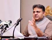 اسلام آباد، وفاقی وزیر اطلاعات فواد چوہدری وفاقی کابینہ کے اجلاس میں ..