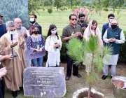 اسلام آباد، صدر مملکت ڈاکٹر عارف علوی ایوان صدر میں مون سون شجرکاری ..