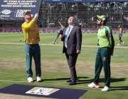 جوہانسبرگ، پاکستان اور جنوبی افریقہ کے درمیان پہلے ٹی ٹونٹی میچ کے ..