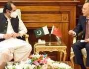 اسلام آباد، وزیراعلی گلگت بلتستان محمد خالد خورشید خان سے چین کے سفیر ..