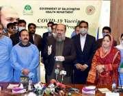 کوئٹہ، وزیراعلی بلوچستان جام کمال خان صوبے میں کورونا ویکسین لگانے ..