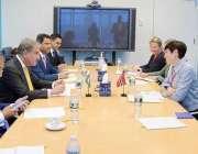 نیویارک، وزیر خارجہ شاہ محمود قریشی اپنے نارویجن ہم منصب سے ملاقات ..