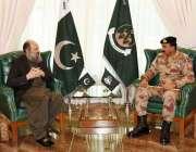 کوئٹہ، وزیراعلی بلوچستان جام کمال خان سے آئی جی ایف سی نارتھ میجر جنرل ..