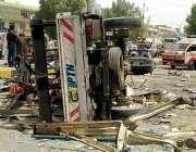 کراچی، محکمہ موسمیات کے علاقے میں سلنڈر دھماکے کے بعد کے الیکٹرک کی ..