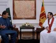 کولمبو، سری لنکن وزیراعظم مہنداراجاپاکسے اور وزیراعظم عمران خان ٹیمپل ..
